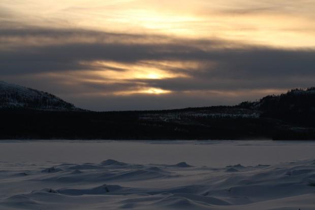 Solnedgång över Lossen